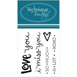 Technique Tuesday - Clear Stamp -  Love You Lots