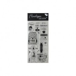 Florilèges Design - Les tampons transparents - Clear stamps - Pause thé & café