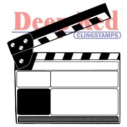 Deep Red - Cling Stamp - Movie Clapper