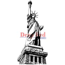 Deep Red - Cling stamp - Statue of liberty