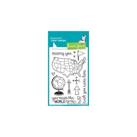 Lawn Fawn - Clear Stamps - Wish You Were Here