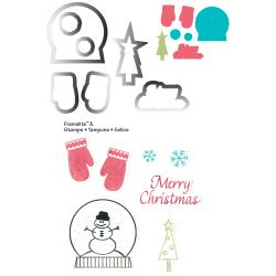 Sizzix - Framelits and Stamps - Mittens and Snow Globe