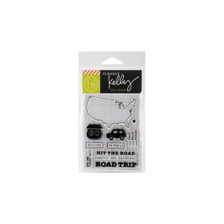 Hero Arts - Clearly Kelly - Clear stamp set - Kelly's Road Trip
