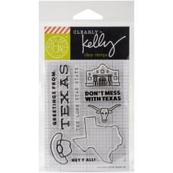 Hero Arts - Clearly Kelly - Clear stamp set - Kelly's Texas