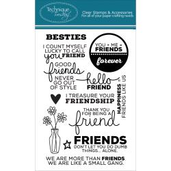 Technique Tuesday - Clear Stamp -  Besties