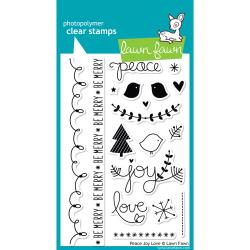 Lawn Fawn - Clear Stamps - Peace Joy Love