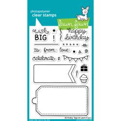 Lawn Fawn - Clear Stamps - Birthday Tags