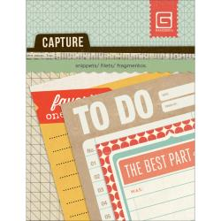 BasicGrey - Journaling cards 7 x 10 cm - Capture - Snippets