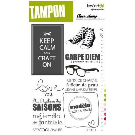 Kési'art - Set de tampons transparents - Défilé printemps été