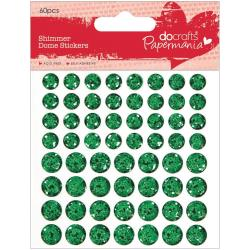 Docrafts - Papermania - Shimmer Dome - Petits domes brillants - Green