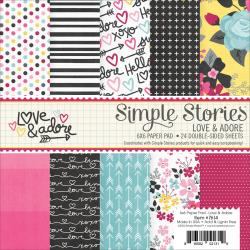 Simple Stories - 6x6 paper pad - Love & adore