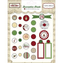 Carta Bella - So This is Christmas - 28 Decorative Brads