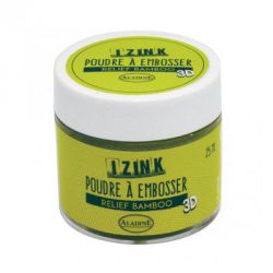 Aladine - IZINK - Poudre à embosser 3D - Relief bamboo