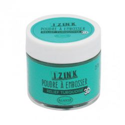 Aladine - IZINK - Poudre à embosser 3D - Relief turquoise