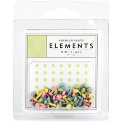 American Crafts - Elements -   Mini brads - Pastel