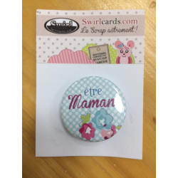 Swirlcards - Badge - Confettis Maman