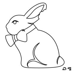 Gourmet Rubber Stamps - Cling - Lapin