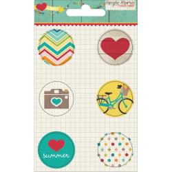 Simple stories - Badges - I heart Summer