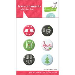 Lawn Fawn - Lawn Ornaments - Badges - Peace Joy Love Flair