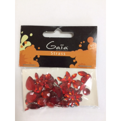 Gaïa - Strass - Rouge