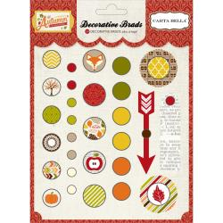 Carta Bella - Alisha Gordon - A Perfect Autumn - 29 decorative brads