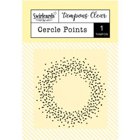 Swircards - Tampon clear - Cercle points