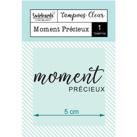 Swircards - Tampon clear - Moment précieux