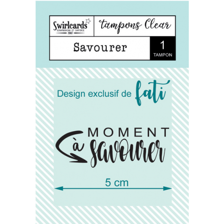 Swircards - Tampon clear - Savourer