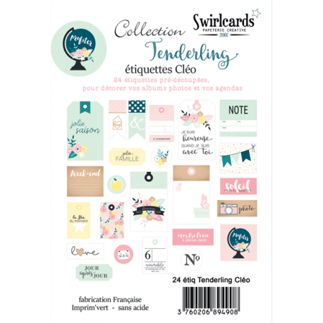Swirlcards - Tenderling - Etiquettes Cléo