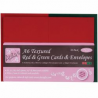 Docrafts - Anita's - Enveloppes et cartes - A6 - Red & Green