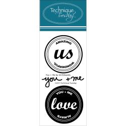 Technique Tuesday - Ali Edwards - Clear Stamp - You and Me