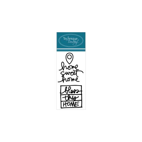 Technique Tuesday - Ali Edwards - Clear Stamp -  Home