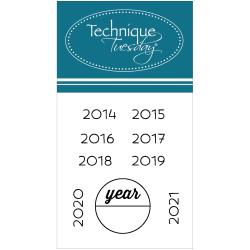 Technique Tuesday - Tampon clear - Calendar - Years