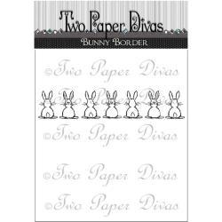 Two Paper Divas - Clear Stamps - Bunny Border
