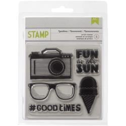 American Crafts - Clear Stamps - Good Times