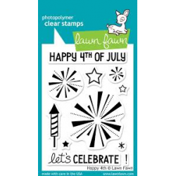 Lawn Fawn - Clear Stamps - Happy 4th