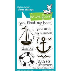 Lawn Fawn - Clear Stamps - Float my Boat