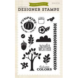 Echo Park - Clear Stamps - Sweater Weather Stamp Set