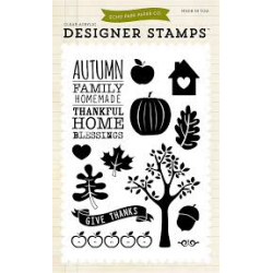 Carta Bella - Designer Stamps - Clear Acrylic - Thankful Home