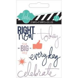 Heidi Swapp - Mini Clear stamp -  Right now