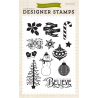 Echo Park - Clear Stamps - Designer Stamp - Believe