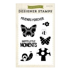 Carta Bella - Designer Stamps - Clear Acrylic - Happy little Moments