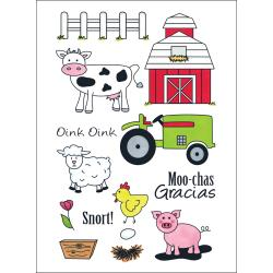 Craft lounge - Cling rubber stamps - The barnyard