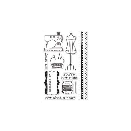 Hero Arts - Clear Stamp - Sew Artsy