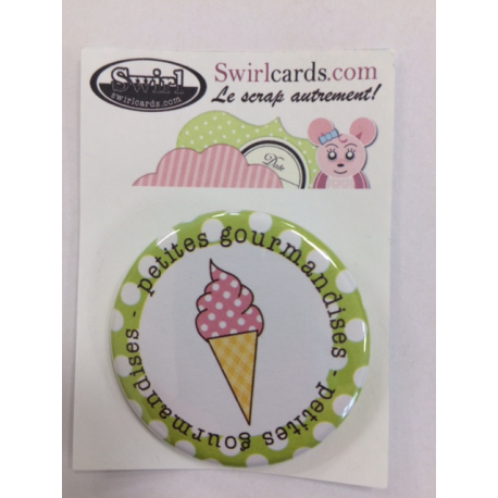 Swirlcards - Badge - Eglantine Glace