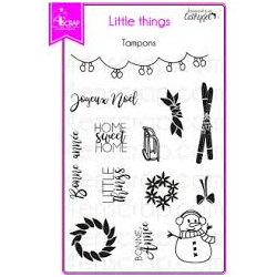 4enSCRAP - Tampons clear - Collection hiver 2017 - Set no 121 - Little things