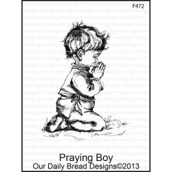 Our Daily Bread Designs - Tampons cling - Praying Boy
