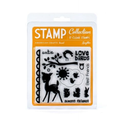 American Crafts - Clear Stamps - Blue skies