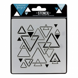 Florilèges Design - Stencil - Triangles mêlés