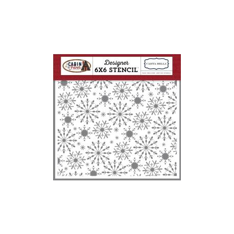 Carta Bella - Pochoir - Stencil - Frosted Snowflake